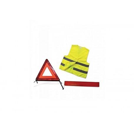 kit triangle de signalisation et gilet de securite